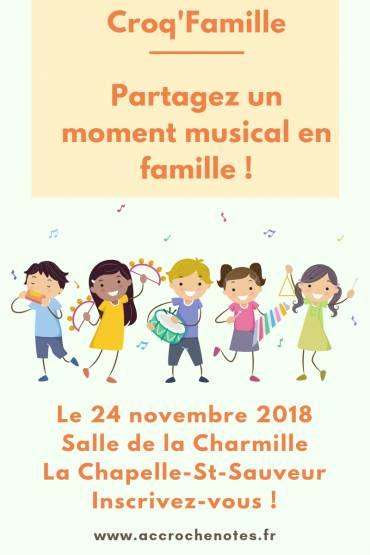 Croq'Famille le 24 novembre à La Chapelle-St-Sauveur !