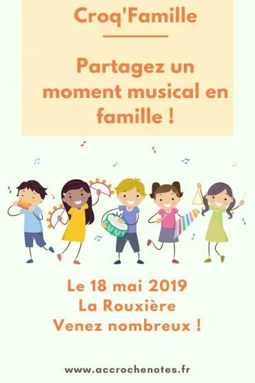 Croq'Famille à La Rouxière le 18 mai prochain !