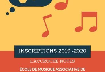 Inscriptions 2019-2020 : c'est parti !