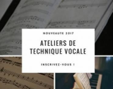 Ateliers Technique vocale : nouveauté de la rentrée 2017 !