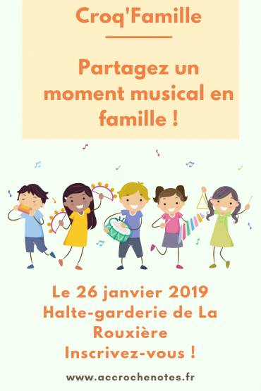 Prochain Croq'Famille à La Rouxière le 26 janvier
