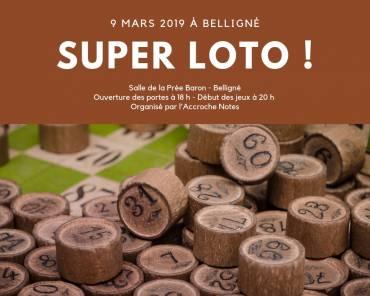 Super loto le 9 mars 2019 à Belligné !