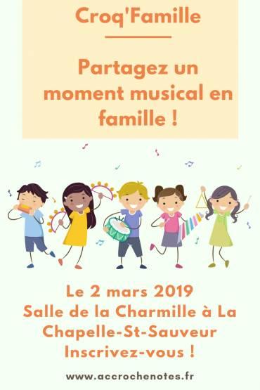 Croq'Famille à La Chapelle-Saint-Sauveur le 2 mars 2019 !