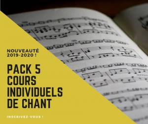 pack 5 cours individuels chant