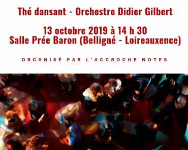 Thé dansant, le 13 octobre 2019 à Belligné !