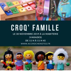 Croq'famille atelier musical à Varades 30 novembre 2019