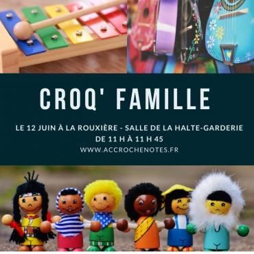 Croq'Famille à La Rouxière le 12 juin prochain !