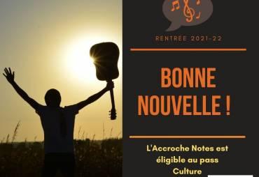 L'Accroche Notes éligible au pass Culture : bonne ou très bonne nouvelle ? :)